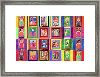 Texting Itrash Divas Framed Print by Ricky Gagnon