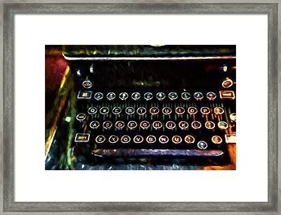 Texting Oldschool Framed Print by John K Woodruff