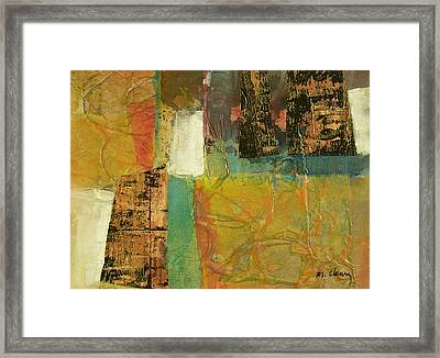 Textural Notions Framed Print by Melody Cleary