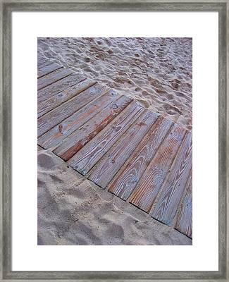 Texture. Beach. Sand.  Framed Print by Andy Za