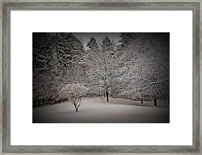 Framed Print featuring the photograph Texture Drama Fresh Snow Scene by Aimee L Maher Photography and Art Visit ALMGallerydotcom