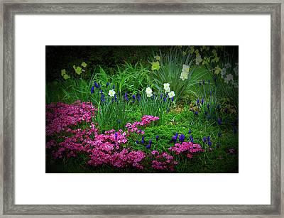 Texture Drama Garden Escape Framed Print