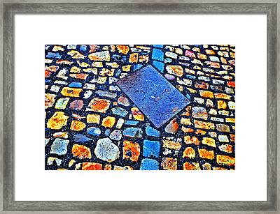 Texture. Next To Charles Bridge. Prague. Czech Republic. Framed Print by Andy Za