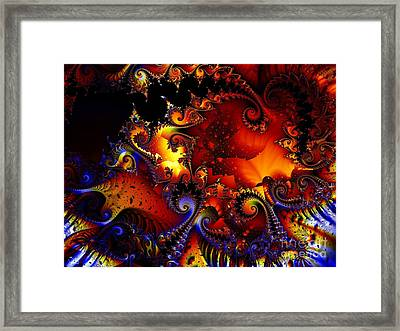 Texture Of Jackolantern Framed Print