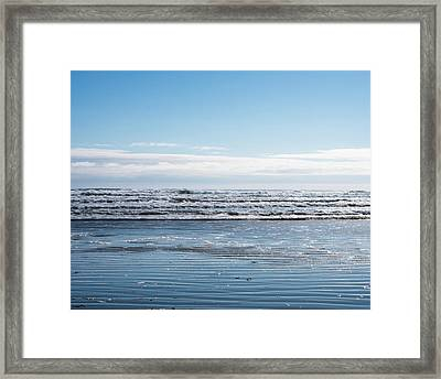 Textured Blues Framed Print