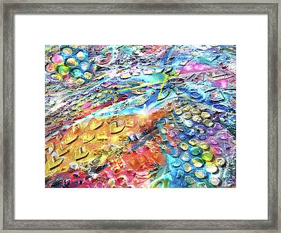Textured Color Play 2 Framed Print