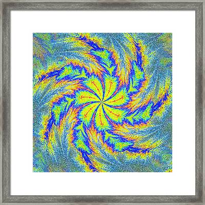 Textured Colors Framed Print by Susan Leggett