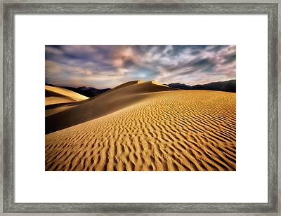 Textured Dunes  Framed Print