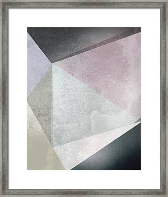 Textured Geometric Triangles Framed Print by Pati Photography