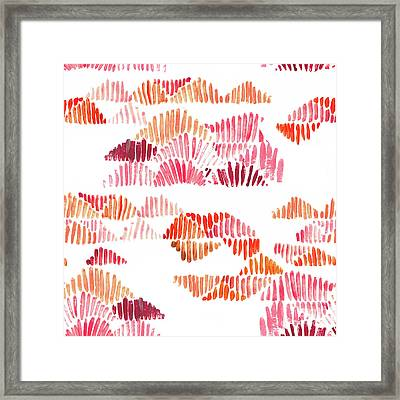 Textured Lines Framed Print