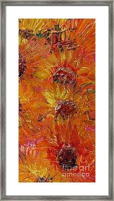 Textured Sunflowers Framed Print by Nadine Rippelmeyer