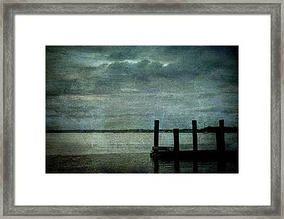 Textured Sunset Framed Print by Dave Bosse
