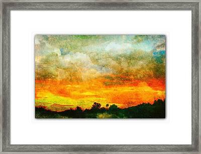 Textured Sunset Framed Print