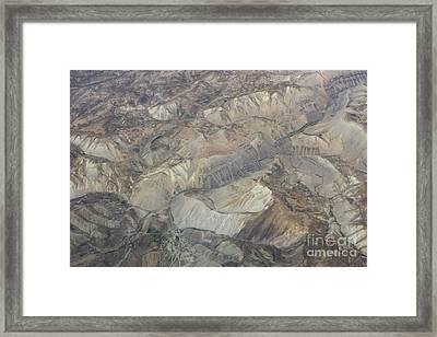 Textured Valleys Framed Print by Tim Grams