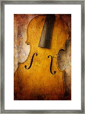 Textured Violin Framed Print by Garry Gay