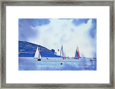 Textured Yachts Framed Print by Terri Waters