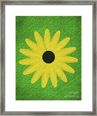 Framed Print featuring the digital art Textured Yellow Daisy by Smilin Eyes  Treasures
