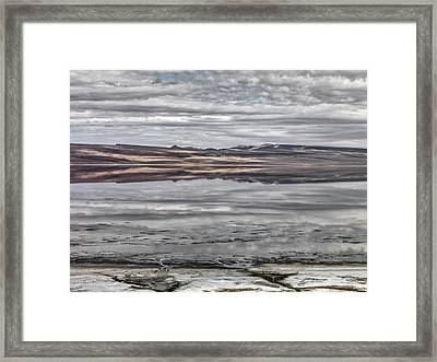 Textures And Reflections Framed Print by Leland D Howard
