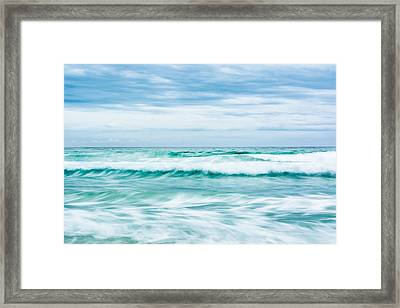 Textures In The Waves Framed Print by Shelby  Young