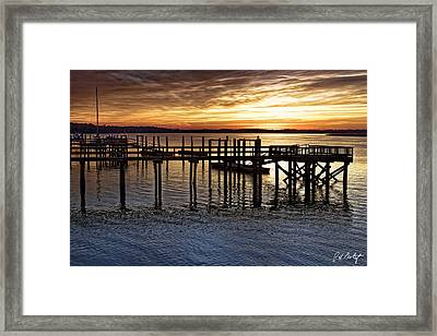 Textures Of Sunset Framed Print by Phill Doherty