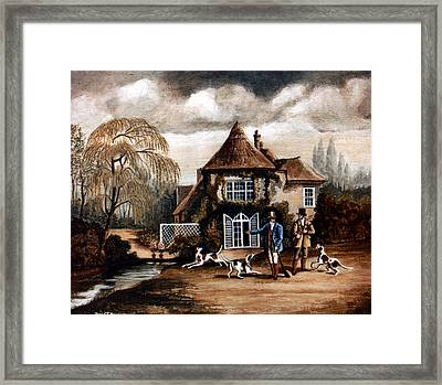Th Hunting Lodge. Framed Print by James Richardson