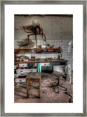 Framed Print featuring the digital art Th Mad Scientist  by Nathan Wright