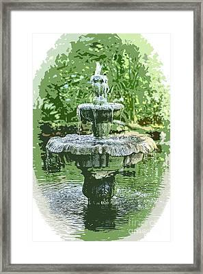 Tha Fountain Framed Print