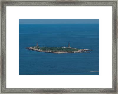 Framed Print featuring the photograph Thacher Island Lights by Joshua House