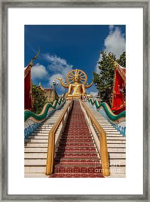 Thai Big Buddha Framed Print by Adrian Evans