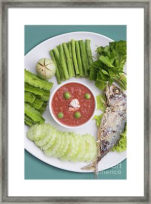 Framed Print featuring the photograph Thai Chili Paste by Atiketta Sangasaeng
