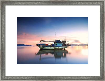 Thai Fishing Boat Framed Print