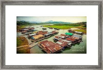 Thai Floating Village Framed Print