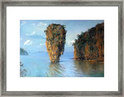 Thai Landscape Framed Print
