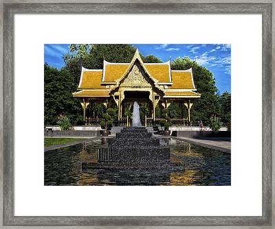 Thai Pavilion - Madison - Wisconsin Framed Print