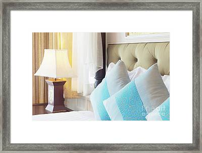 Thai Style Bedroom Framed Print by Atiketta Sangasaeng