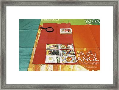 Framed Print featuring the photograph Thai Tarot Fortune Teller  by Dean Harte