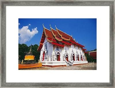 Thailand, Wat Doi Tung Framed Print