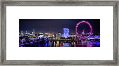 Thames Panorama Framed Print