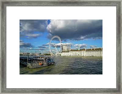 Thames River Framed Print