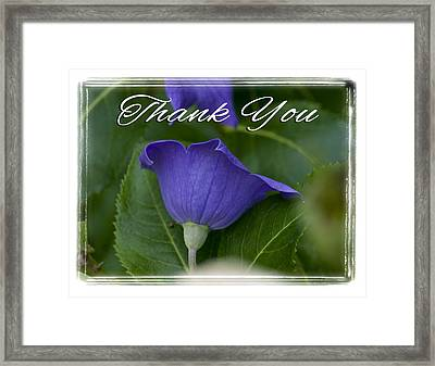 Thank You Balloon Framed Print