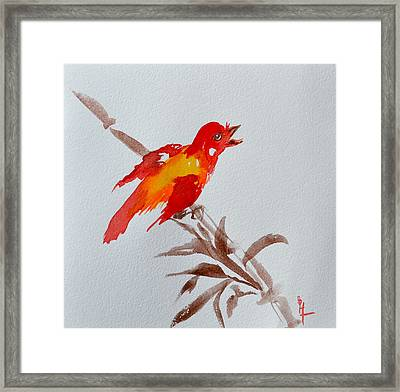 Thank You Bird Framed Print