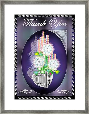 Thank You Card 2 Framed Print by George Pasini