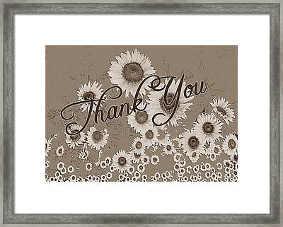 Thank You Card Daisies Framed Print