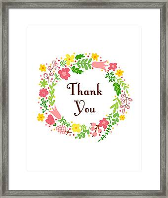 Thank You Card Framed Print by Madame Memento