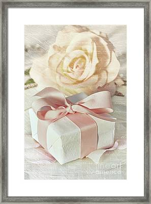 Thank You Gift At Wedding Reception Framed Print by Sandra Cunningham
