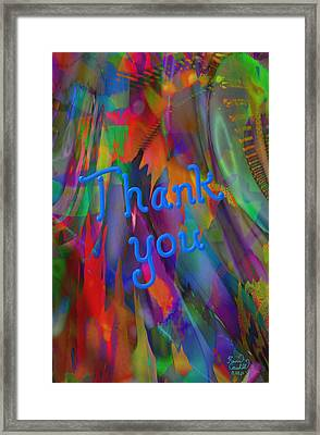 Thank You Framed Print by Kevin Caudill