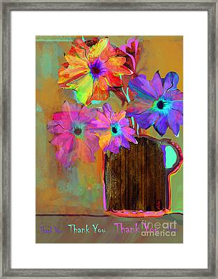 Thank You Flowers Framed Print