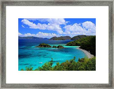 Thank You St. John Usvi Framed Print by Fiona Kennard