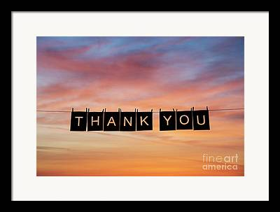 Thank You Framed Prints