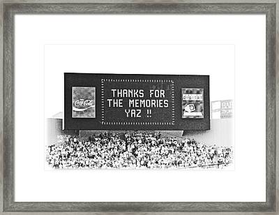 Thanks Yaz Framed Print by Mike Martin